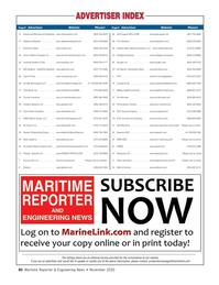 Maritime Reporter Magazine, page 80,  Nov 2020