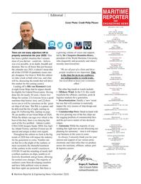Maritime Reporter Magazine, page 6,  Dec 2020