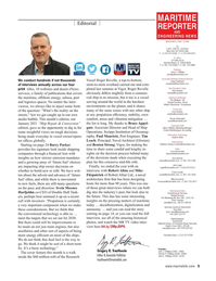 Maritime Reporter Magazine, page 5,  Jan 2021