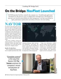 Maritime Reporter Magazine, page 10,  Feb 2021