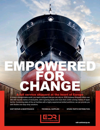 Maritime Reporter Magazine, page 2nd Cover,  Feb 2021