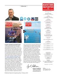 Maritime Reporter Magazine, page 6,  Feb 2021