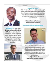 Maritime Reporter Magazine, page 10,  Apr 2021