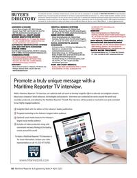 Maritime Reporter Magazine, page 60,  Apr 2021