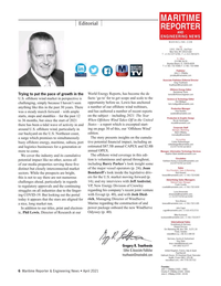 Maritime Reporter Magazine, page 6,  Apr 2021