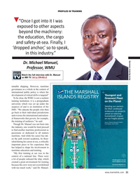 Maritime Reporter Magazine, page 21,  May 2021