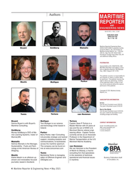 Maritime Reporter Magazine, page 4,  May 2021