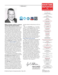 Maritime Reporter Magazine, page 6,  May 2021