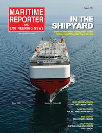Maritime Reporter Magazine Cover Aug 2021 - The Shipyard Annual
