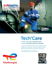 Maritime Reporter Magazine, page 3rd Cover,  Aug 2021