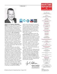 Maritime Reporter Magazine, page 6,  Aug 2021