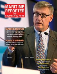 Maritime Reporter Magazine Cover Sep 2021 - The Marine Design Edition