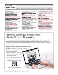 Maritime Reporter Magazine, page 60,  Sep 2021