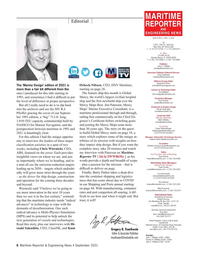 Maritime Reporter Magazine, page 6,  Sep 2021