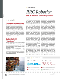 Offshore Energy Reporter Magazine, page 8,  Jan 2015