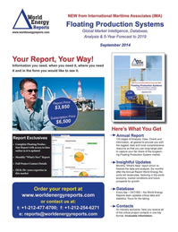 Offshore Energy Reporter Magazine, page 3rd Cover,  Jan 2015