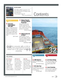Offshore Energy Reporter Magazine, page 1,  Jan 2015