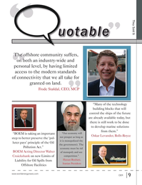 Offshore Energy Reporter Magazine, page 7,  Jan 2015