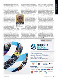 Offshore Engineer Magazine, page 19,  Jan 2015