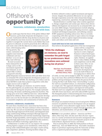 Offshore Engineer Magazine, page 34,  Jan 2016