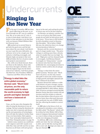 Offshore Engineer Magazine, page 6,  Jan 2016