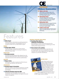 Offshore Engineer Magazine, page 1,  Jul 2016