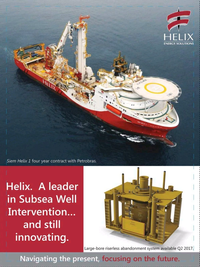 Offshore Engineer Magazine, page 23,  Dec 2016