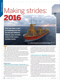 Offshore Engineer Magazine, page 52,  Dec 2016