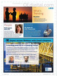 Offshore Engineer Magazine, page 5,  Feb 2017