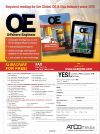 Offshore Engineer Magazine, page 63,  Aug 2017