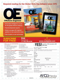 Offshore Engineer Magazine, page 63,  Nov 2017