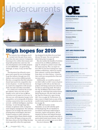 Offshore Engineer Magazine, page 6,  Dec 2017