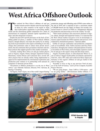 Offshore Engineer Magazine, page 12,  May 2019