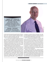 Offshore Engineer Magazine, page 51,  May 2019