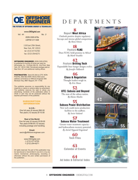Offshore Engineer Magazine, page 4,  May 2019