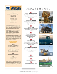 Offshore Engineer Magazine, page 4,  Jul 2019