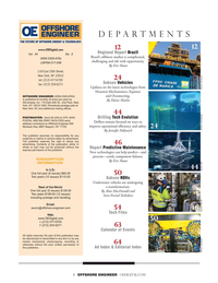 Offshore Engineer Magazine, page 4,  Sep 2019
