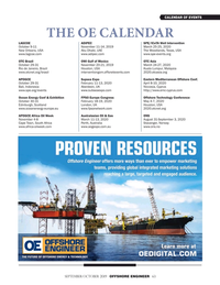 Offshore Engineer Magazine, page 63,  Sep 2019