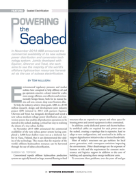 Offshore Engineer Magazine, page 38,  Jan 2020