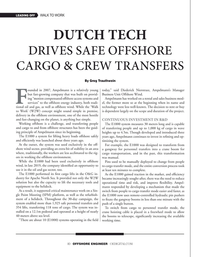 Offshore Engineer Magazine, page 10,  May 2020