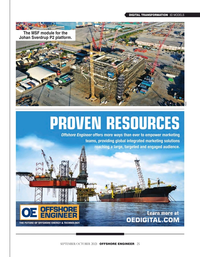 Offshore Engineer Magazine, page 25,  Sep 2021