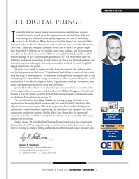 Offshore Engineer Magazine, page 7,  Sep 2021