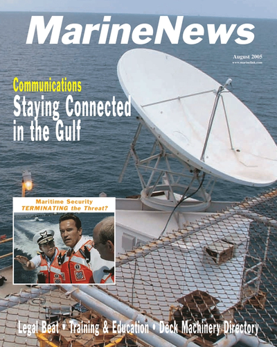 Cover of August 2005 issue of Marine News Magazine