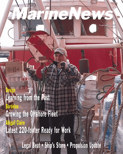Cover of September 2005 issue of Marine News Magazine