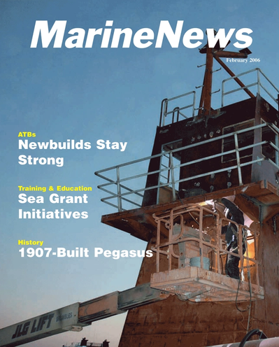 Cover of February 2006 issue of Marine News Magazine