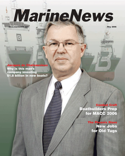 Cover of May 2006 issue of Marine News Magazine