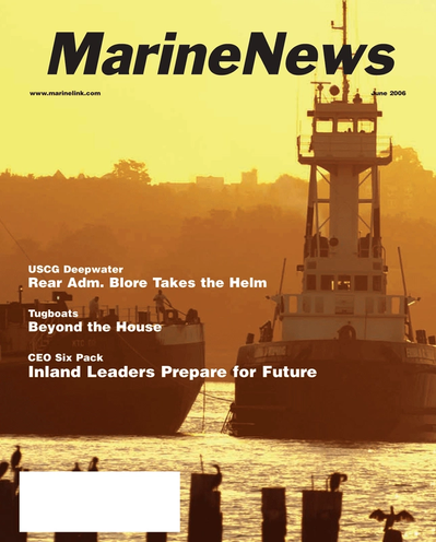Cover of June 2006 issue of Marine News Magazine