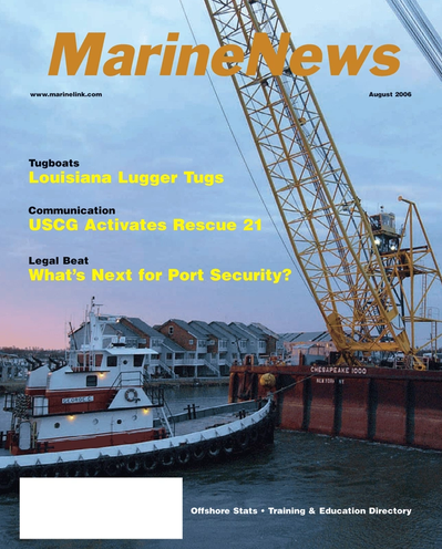 Cover of August 2006 issue of Marine News Magazine