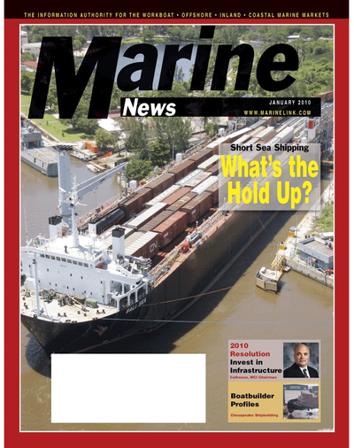 Cover of January 2, 2010 issue of Marine News Magazine