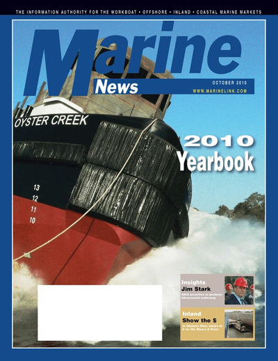 Cover of October 2010 issue of Marine News Magazine